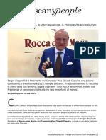 Sergio Zingarelli e il Chianti Classico- il Presidente dei 300 anni