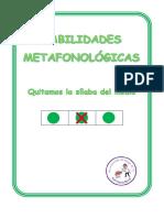 habilidades metafonologicas eliminar silaba media mayusculas pauta