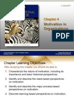 CHAPTER 4 MOTIVATION IN ORGANIZATION