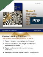 CHAPTER 5 Motivating Employee Performance Through Work