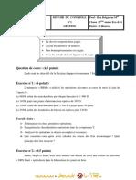 Devoir de Contrôle N°1 - Gestion - 3ème Economie  Gestion (2010-2011) Mr Ben Belgacem Mohamed