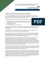 Credit Suisse sobre la oferta de la Argentina