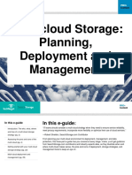 Multi-cloud Storage Planning, Deployment and Management
