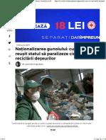 Naționalizarea gunoiului  cum a reușit statul să paralizeze circuitul reciclării deșeurilor