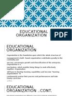 Educational Organization Cluase 3.22
