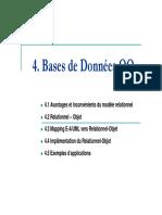 Bases de Donnees Avancees I - SGBDRO