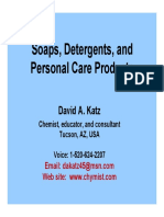 Soap, Detergents, And Personal Care Products ACS SF