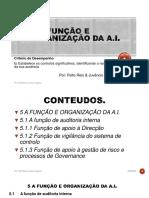 5 A FUNÇÃO E ORGANIZAÇÃO DA A.I.