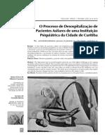 DESOSPITALIZAÇÃO DE PACIENTES ASILARES