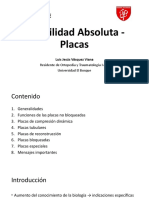 Estabilidad absoluta - Placas - Dra Hernandez