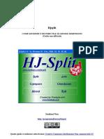 Hjsplit - come dividere e riunire un file di grosse dimensioni