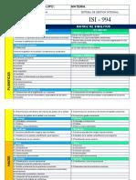 MATRIS DE SIMILITUD DE ISO 9001 Y 14001 VERSION 2015