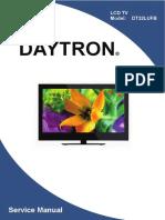 схема и сервис мануал на английском Daytron DT32LUFB.pdf