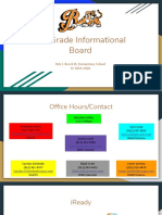 5th Grade Informational Board