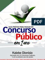 Livro Digital Guia Prático para Passar em Concurso Público em 1 Ano