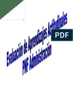 Evaluación de aprendizajes actitudinales PNFA