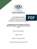 Determinantes de la participación en la Evaluación Periódica Universal de la ONU