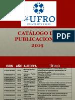 Catalogo Ediciones Ufro 2019