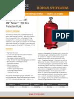Especificaciones Cilindros Total Flooding Firetrace