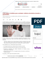 OAB sugere medidas para combater violência doméstica durante a quarentena - Migalhas Quentes