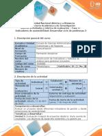 Guia de Actividades y rúbrica de evaluación- Fase 4 - Indicadores de sostenibilidad. Desarrollar ciclo de problemas 3
