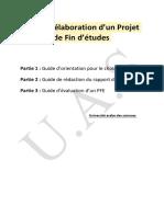 Guide d'élaboration d'un Projet . PFE