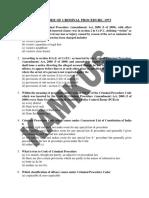 Mcq the Code of Criminal Procedure, 1973