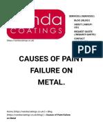 Causes of Paint Failure on Metal - Vanda Coatings