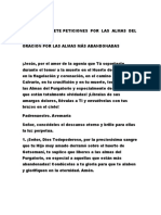 ORACIÓN DE SIETE PETICIONES  POR  LAS  ALMAS  DEL  PURGATORIO