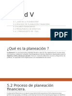 Unidad V- Planeacion Financiera - Estados Financieros Proforma