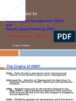 Results-Based Planning & Management CUZ Proj Mgt 21-22 May 2016