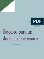 Boceto para un desnudo de memoria, Dioscórides Pérez