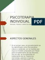 PSICOTERAPIA INDIVIDUAL MATERIA PARA LA ACTIVIDAD