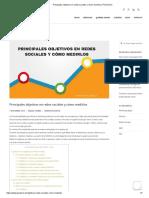 Principales objetivos en redes sociales y cómo medirlos _ Píxel & Roi