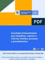 Presentacion del Taller sobre la Directiva Presidencial 07 de 2019