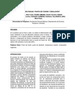 PROPIEDADES FISICAS , PUNTO DE FUSION Y EBULLICION