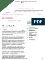 'Ide e fazei discípulos...' - 25_07_2013 - Pasquale - Ex-Colunistas - Folha de S.Paulo