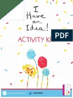 I Have An Idea Activity Sheets Kit