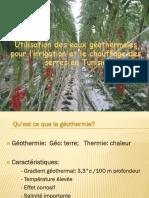 RE&Agri 2014 - Utilisation Des Eaux Géothermales Pour l'Irrigation Et Le Chauffage Des Serres en Tunisie - Mougou