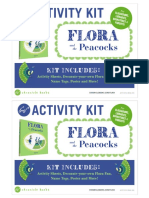 Flora Peacocks Activity Kit
