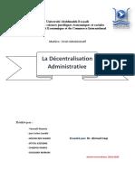 La décentralisation administrative Pdf (1)