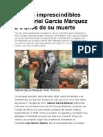 6 libros imprescindibles de Gabriel García Márquez a 6 años de su muerte
