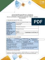 Guía de actividades y Rubrica de evaluación. Fase 2. Análisis del problema (1)