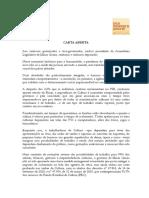 FPC_Medidas Emergenciais Para a Cultura de Minas, carta aberta com assinaturas, 17.abr.20