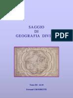 4230 - Saggio Di Geografia Divina Vol III