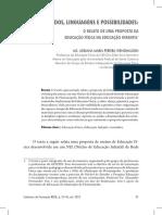 Conteúdos, linguagens e possibilidades o relato de uma proposta da educação Física na Educação infantil