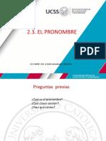 2.2. El Pronombre