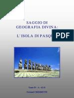 4231 - Saggio Di Geografia Divina Vol IV a - Isola Di Pasqua