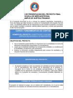Proyecto final de FUNDAMENTOS DE CONTABILIDAD 2020