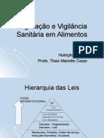 Hierarquia das Leis e Vigilância Sanitária em Alimentos